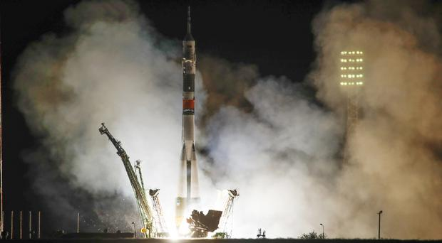 File photo of a launch at Baikonur (AP)