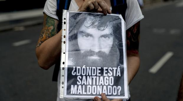 Santiago Maldonado disappeared at the start of August (AP)