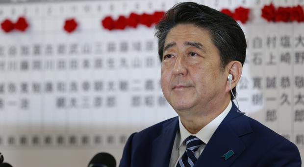 Japanese prime minister Shinzo Abe, leader of the Liberal Democratic Party (AP)