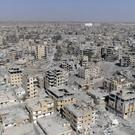 Damaged buildings in Raqqa, after Syrian Democratic Forces said military operations to oust Islamic State group had ended and their fighters had taken full control of the city (AP Photo/ Gabriel Chaim)