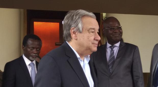 Antonio Guterres is visiting Central African Republic (AP)