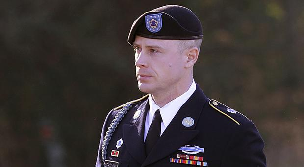 Sergeant Bowe Bergdahl faces a maximum sentence of life in prison after pleading guilty to desertion and misbehaviour before the enemy (AP Photo/Ted Richardson, File)