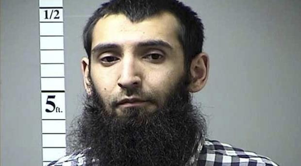 A man, named by authorities as Sayfullo Saipov, mowed down pedestrians and cyclists along a busy bike path near the World Trade Centre memorial (St. Charles County Department of Corrections/KMOV via AP)
