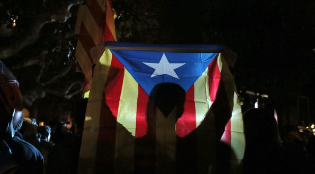 Pro-secession parties held a slim majority in the Catalan parliament before it was dissolved by Spanish authorities (AP)