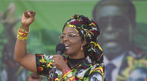 Grace Mugabe is poised to succeed her 93-year-old husband (AP)