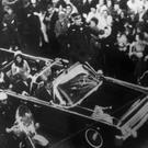 An overhead view of President Kennedy in Dallas shortly before he was shot