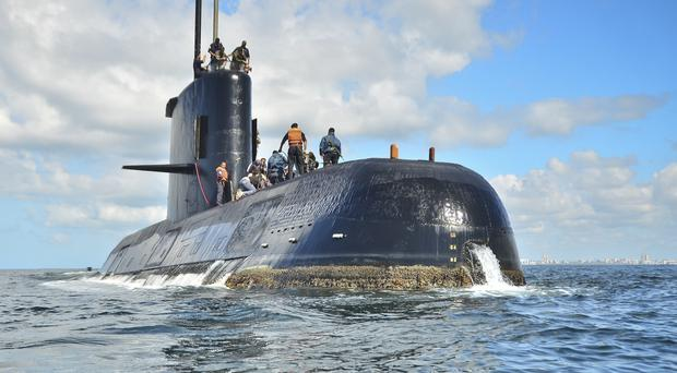 The ARA San Juan submarine, based in Buenos Aires (Argentina Navy/AP)