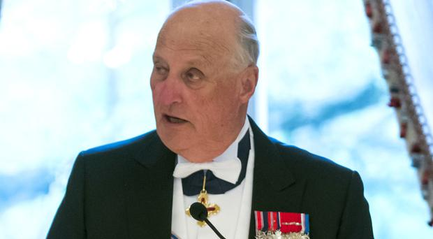 Norway's King Harald is being treated in hospital (AP)