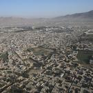 An aerial view of Afghanistan's capital, Kabul