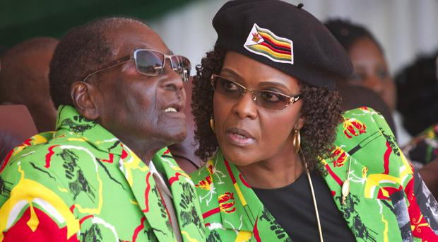 The military stepped in amid fears that Mugabe's wife Grace was positioning herself to take power (AP)
