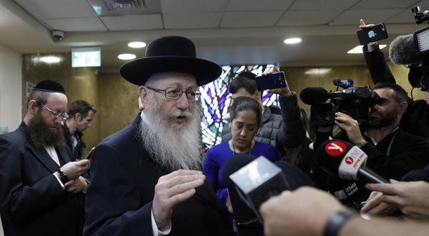 Israeli Health Minister Litzman resigns over Shabbat train work