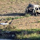 The wreckage of the vehicle used by investigative journalist Daphne Caruana Galizia after a car bomb which killed her (AP)
