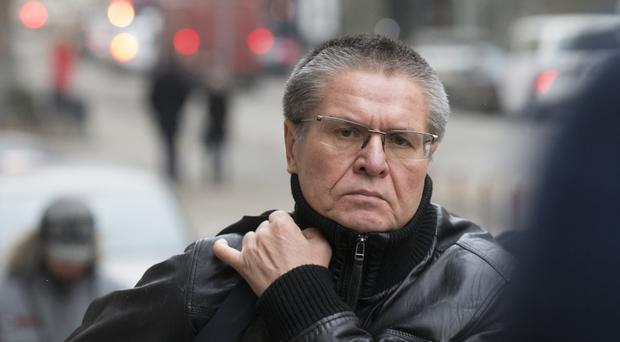 File photo of former Russian economic development minister Alexei Ulyukayev arriving at court (AP)