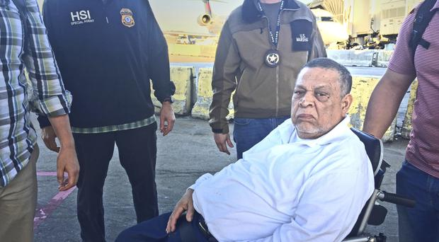 Former Salvadoran Colonel Inocente Orlando Montano Morales seen before boarding his flight to Madrid (AP)