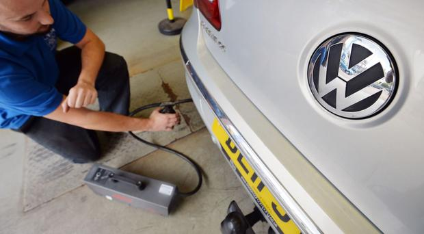 Some VW cars were fitted with software to cheat emissions tests