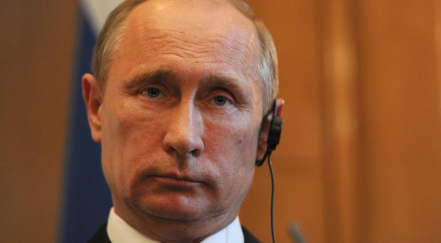 Vladimir Putin has given military support to the Syrian regime