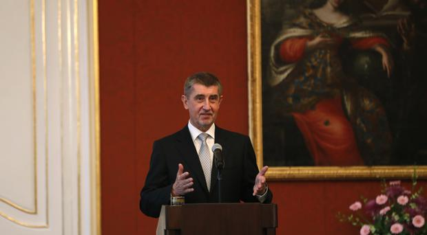 Andrej Babis addresses the media after being sworn in as the country's new prime minister in Prague, Czech Republic (AP)