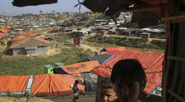 Rohingya children in Kutupalong refugee camp in Bangladesh (AP)