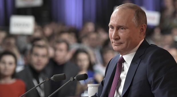 Russian President Vladimir Putin has accused the US over the doping allegations. (AP)
