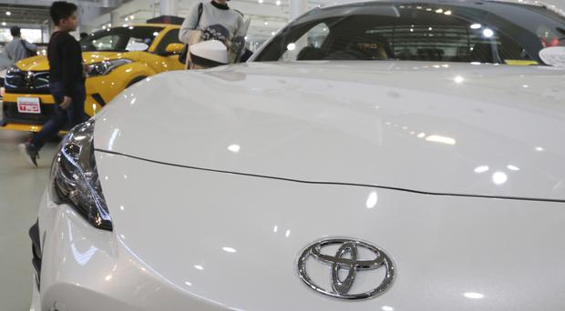 Toyota is currently the leader in hybrid models, which switch between an electric motor and a gas engine (AP Photo/Koji Sasahara)