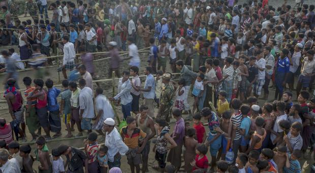 About 630,000 Rohingya have fled Burma into Bangladesh to escape what the United Nations has called
