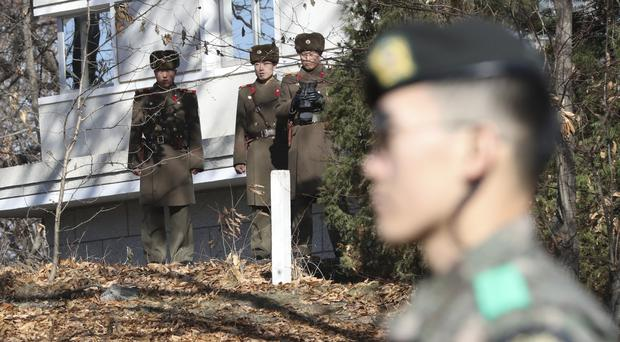 South Korea says a North Korean soldier has safely defected to the South (AP Photo/Lee Jin-man, File)