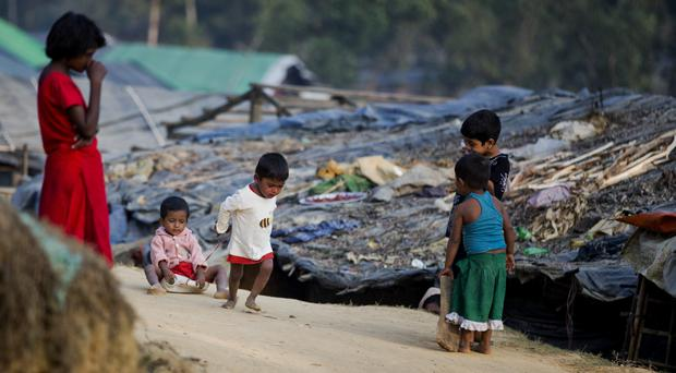 Rohingya Muslims at a refugee camp in Bangladesh (AP)