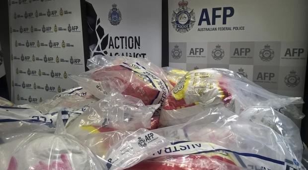 Australian police say they made the country's largest seizure of methamphetamine - a 1.2 ton haul (Australian Border Force via AP)