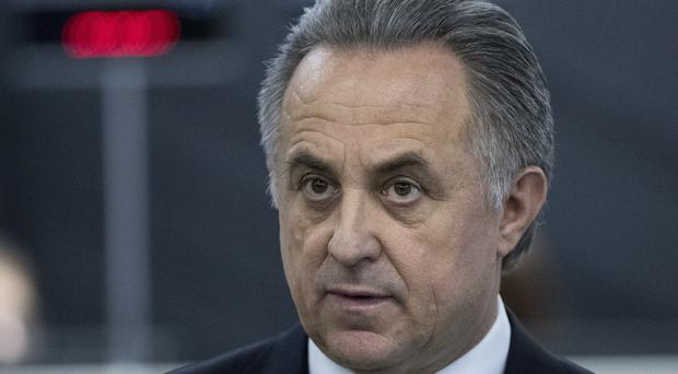 Vitaly Mutko has temporarily stepped down as president of the Russian Football Union (AP)