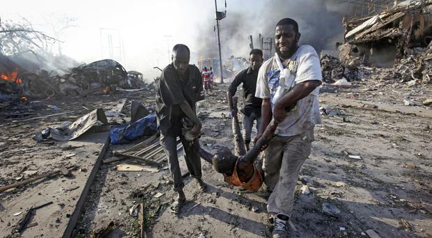 The aftermath of October's atrocity in Mogadishu which has been blamed on the al Shabab group