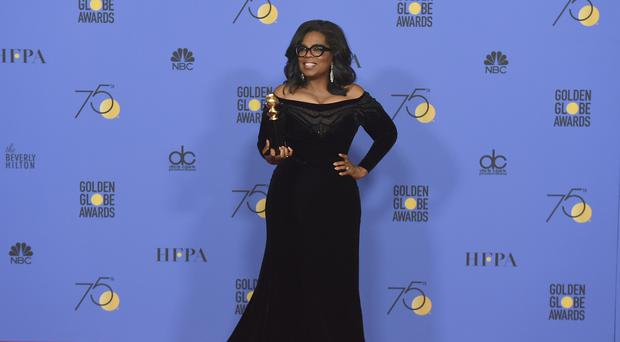 Oprah Winfrey's speech caused a stir among Democrats hopeful she will make a bid for the White House (AP)