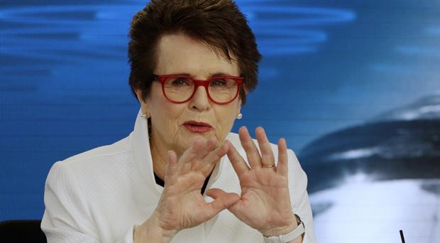 Tennis vetera Billie Jean King is in Melbourne to celebrate the 50th anniversary of her Australian Open victory (AP Photo/Mark Baker)