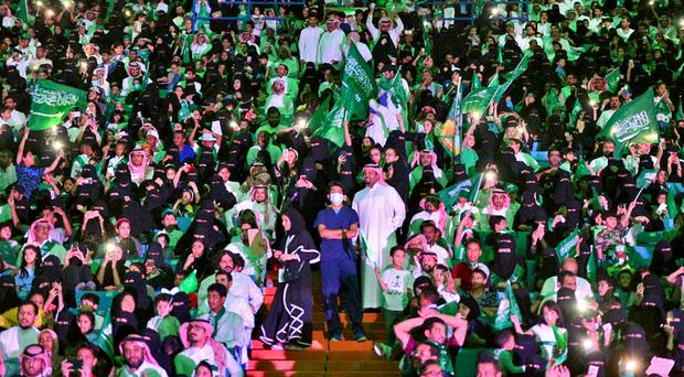 Saudi women at soccer matches make worldwide  headlines