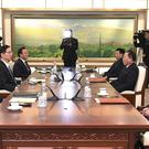 Officials met at the Demilitarized Zone in Paju (South Korea Unification Ministry/AP)