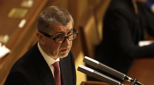 Mr Babis has acknowledged for the first time he might not be in the new Czech government (AP)
