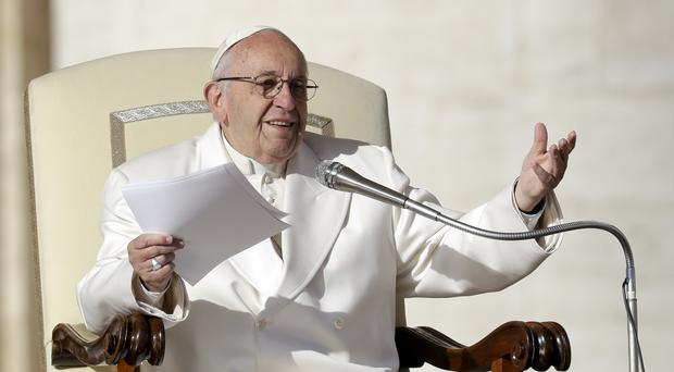 The Pope urged journalists to speak the truth (AP)