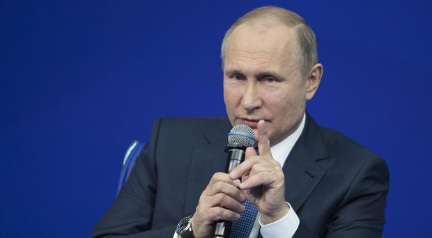 Mr Putin lashed out at the list (AP)