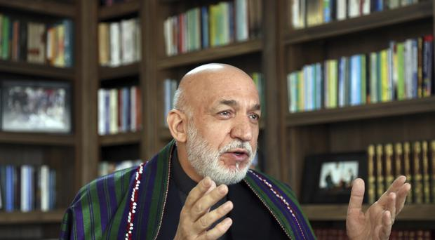 Hamid Karzai was Afghan president until 2014 (AP)