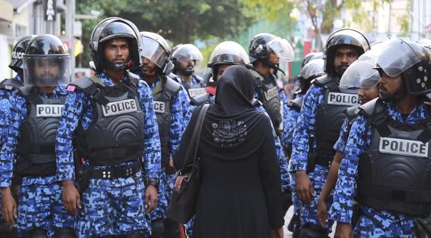 Tensions are high as the Maldives government announced a state of emergency (AP)