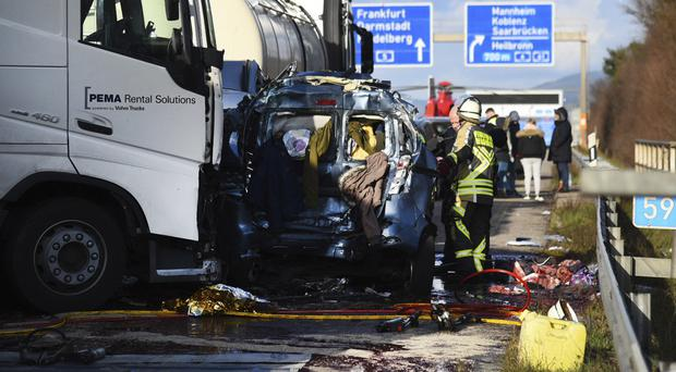 The incident took place on the A5 near St Leon-Rot (AP)