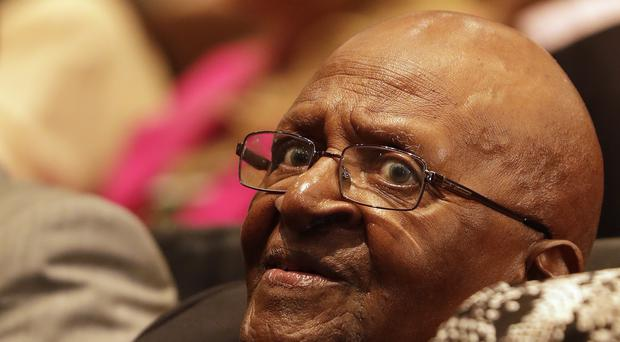 Anglican Archbishop Emeritus Desmond Tutu at a Johannesburg engagement last week (Themba Hadebe/AP)