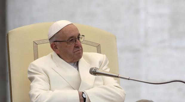 Pope Francis had previously issued a harsh ultimatum to priests in the Nigerian diocese (AP)