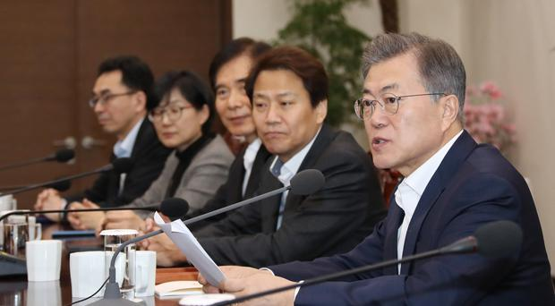 President Moon Jae-in has called for all allegations to be thoroughly investigated (AP)