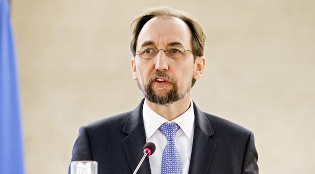 Jordan's Zeid Ra'ad al Hussein launched a strongly-worded attack on the Security Council (AP)