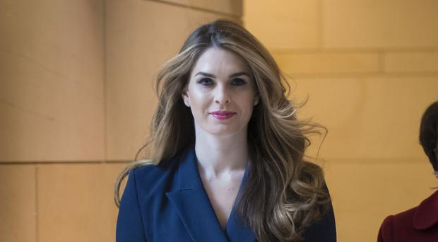 Hope Hicks arrives to meet behind closed doors with the House Intelligence Committee (AP Photo/J. Scott Applewhite)