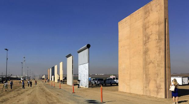 Prototypes of border walls in San Diego (AP Photo/Elliott Spagat, File)