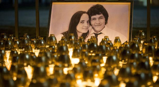 Jan Kuciak and his girlfriend were shot dead last week (AP)
