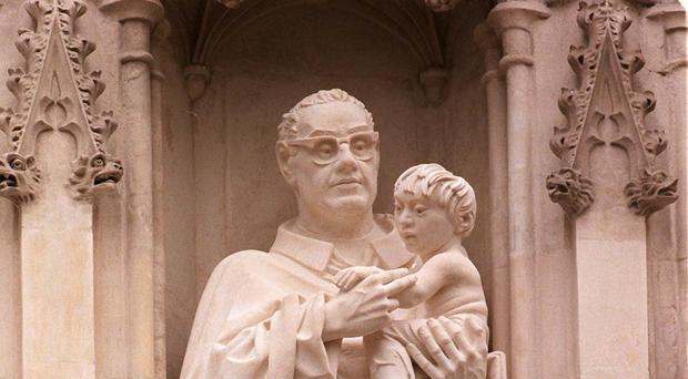 A statue of Oscar Romero at Westminster Abbey (John Stillwell/PA)