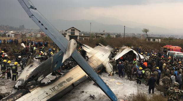 The plane broke into several pieces (AP)