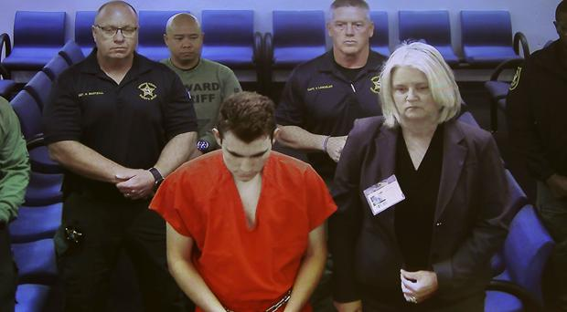 Nikolas Cruz in court via video conference from jail for his first appearance after the shooting